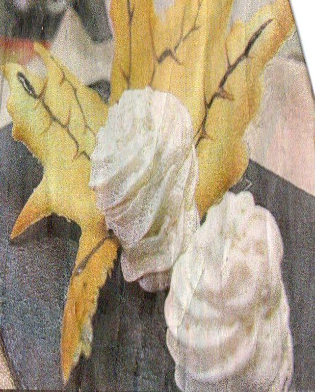 Une mousse légère de marrons et sa feuille croustillante