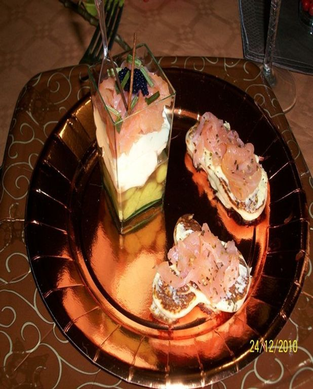 Verrine Avocat Boursin au saumon