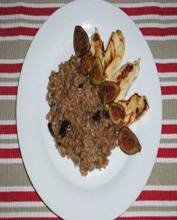 Risotto au poulet et aux figues