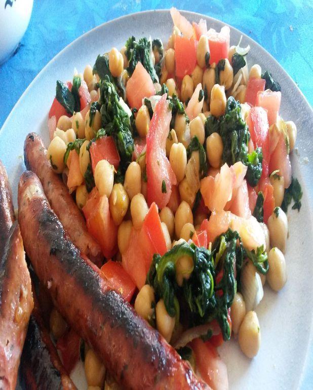 Salade chaude de pois chiche