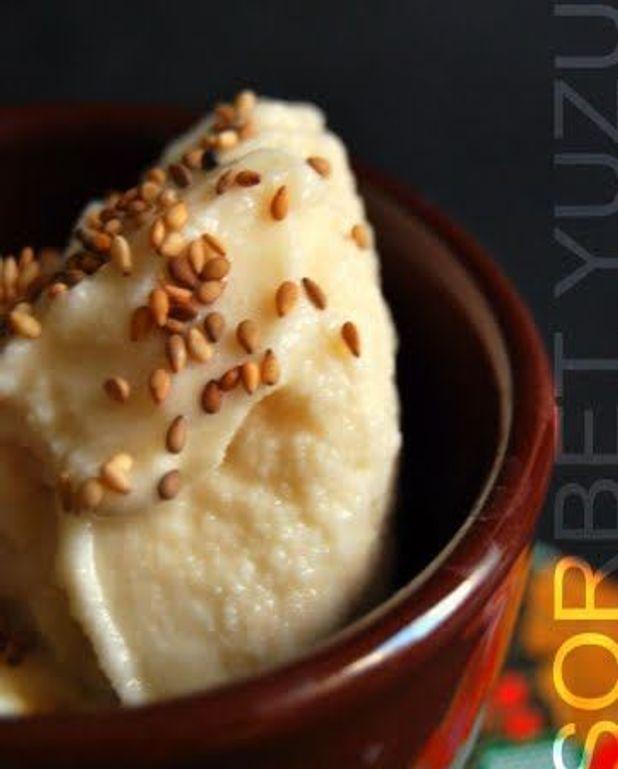 Sorbet yaourt et yuzu