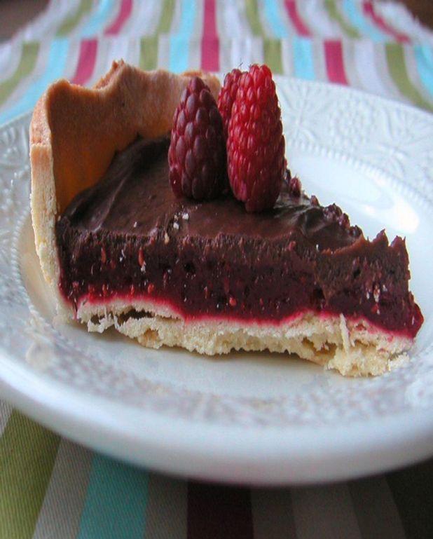 Tarte aux fruits rouges et au chocolat