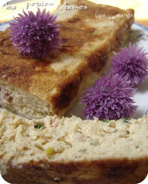 Terrine au tofu soyeux, thon, échalote et ciboulette