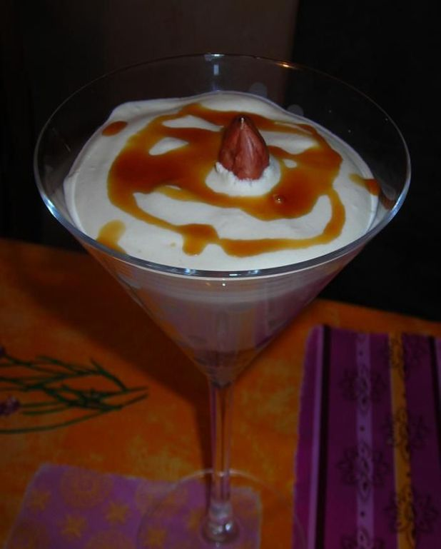 Verrine de mousse au Bailey's
