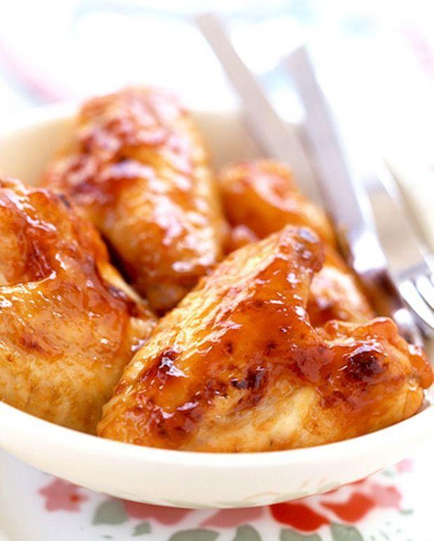 Ailes de poulet panées, noix et graines de sésame