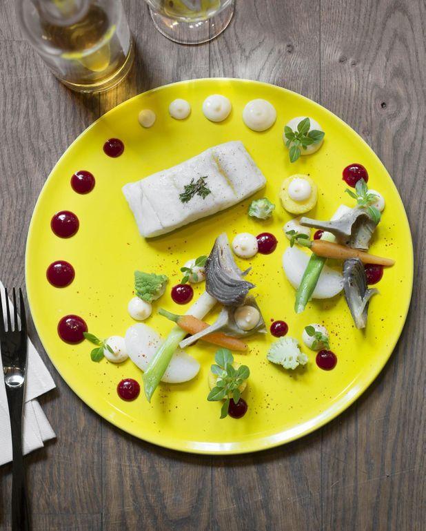 Aïoli de lieu et petits légumes