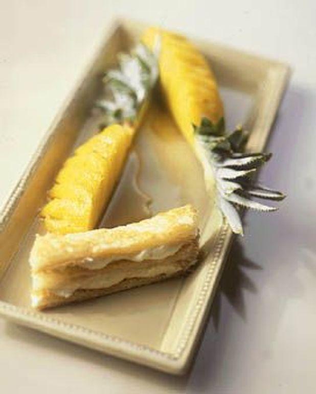 Ananas rôti, mini mille-feuilles