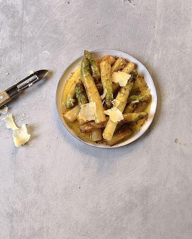 Asperges, beurre noisette et citron