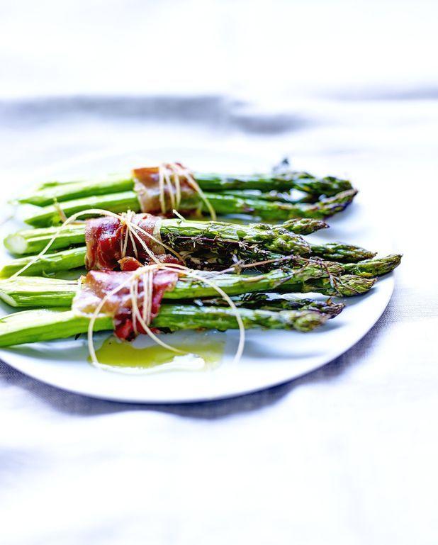 Asperges rôties aux anchois