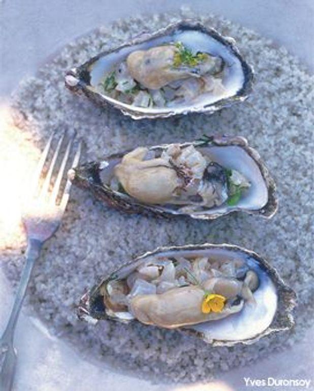 Bar cru iodé d'huîtres