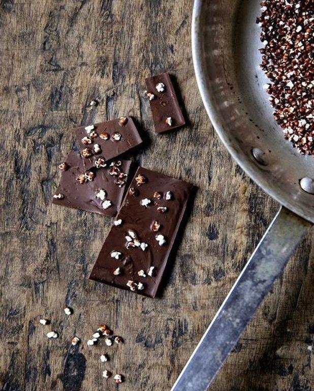 Barres chocolatées au sorgho