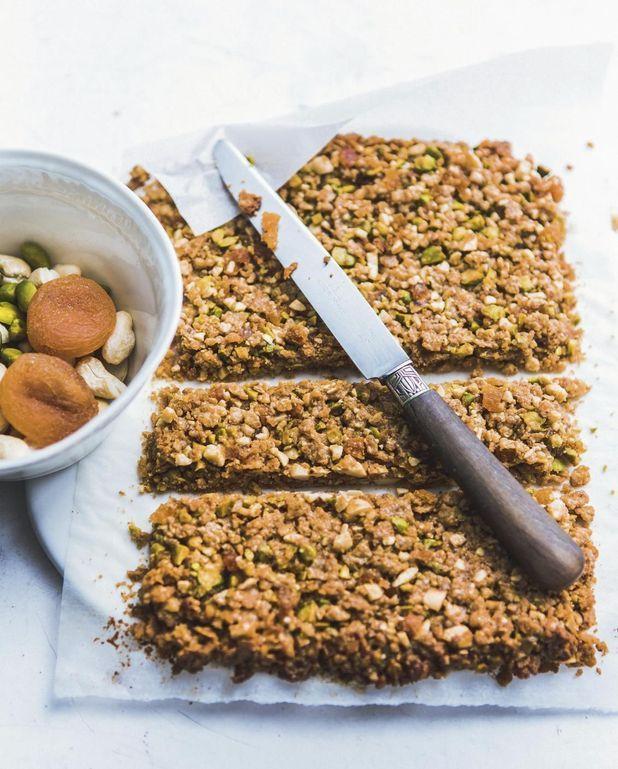 Barres de céréales pistache et noix de cajou