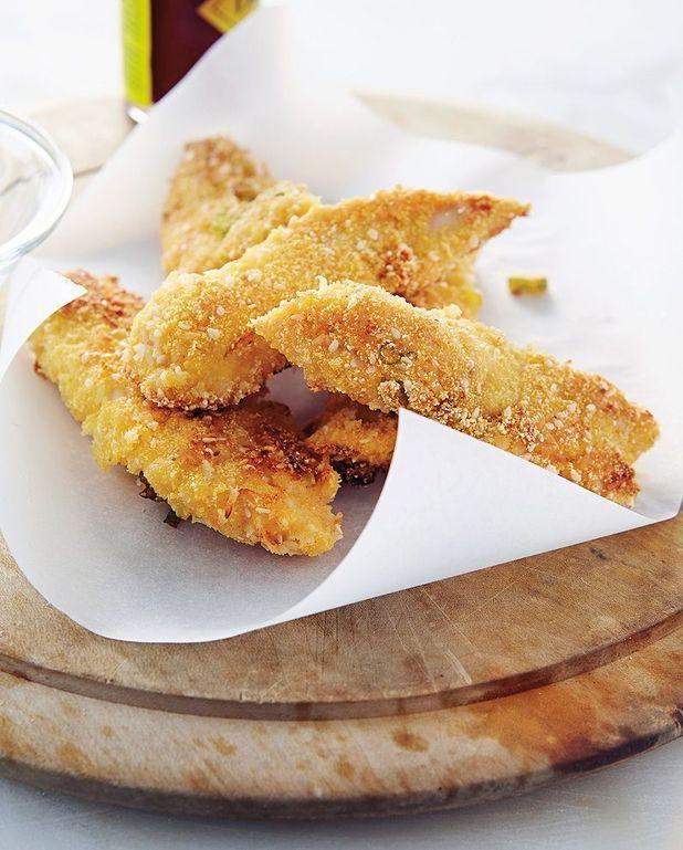 Bâtonnets de poulet à la noix de coco