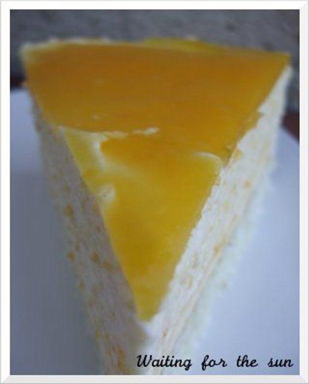 Bavarois orange mangue