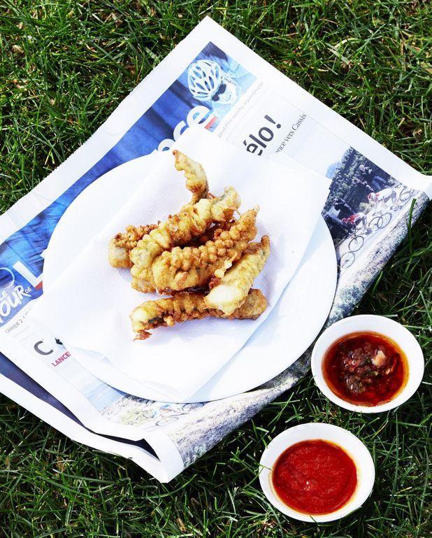 Beignets de poisson aux deux sauces