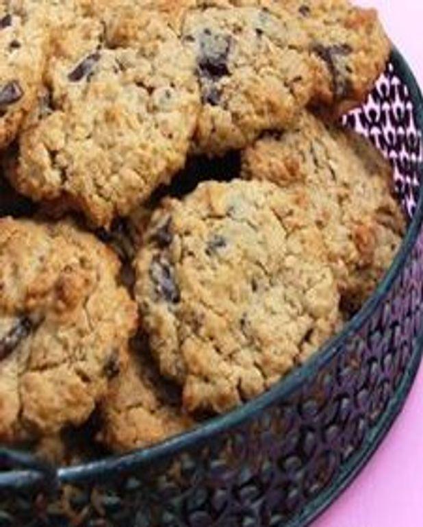 Biscuits à l'avoine, beurre d'arachides et chocolat
