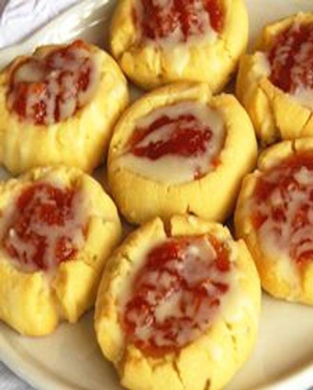 Biscuits empreintes aux abricots, lime et chocolat blanc