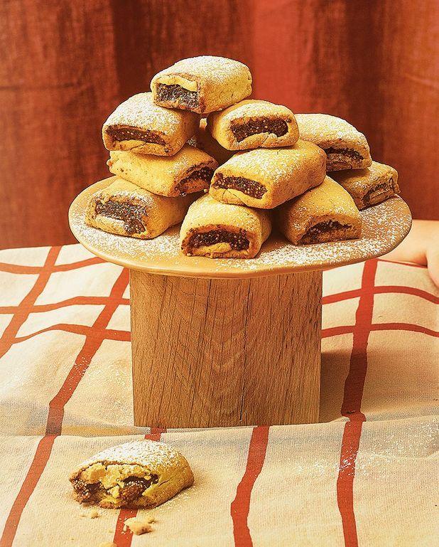 Biscuits roulés aux figues