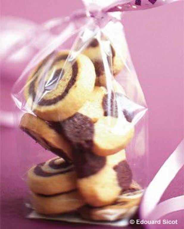 Biscuits sablés bicolores