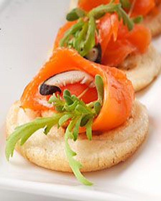 Blinis saumon fumé et shiitake