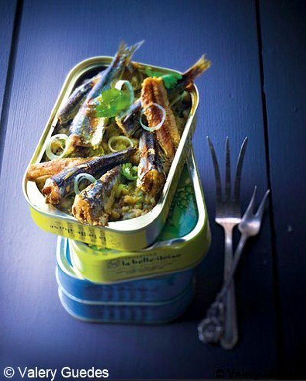 Boîte de sardines au caviar d'aubergine