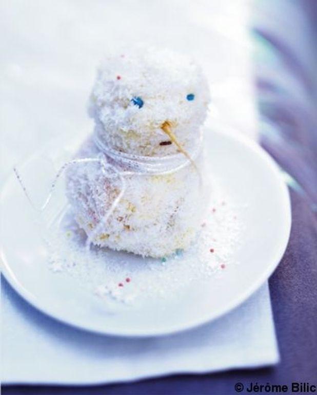 Bonhomme de neige cœur chocolat