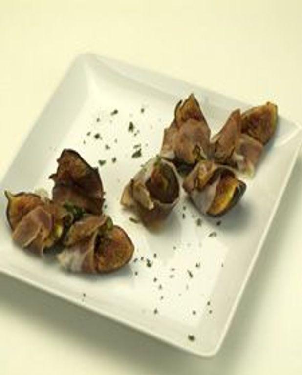 Bouchée de figues rôties et prosciutto
