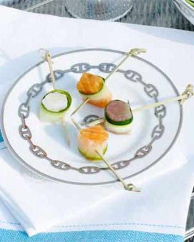 Bouchées de poisson, cru marinade au gingembre