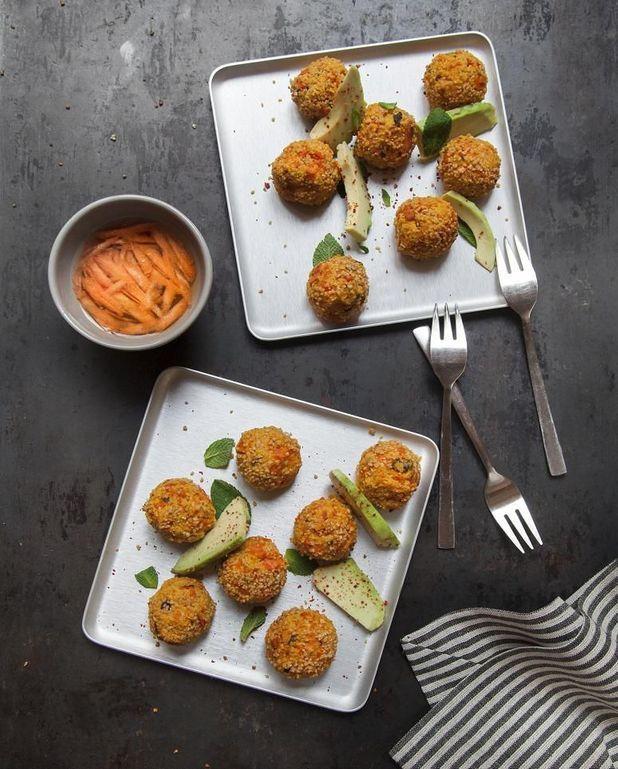 Boulettes carottes-feta-menthe