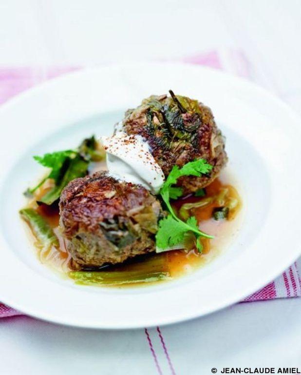 Boulettes de viande aux poireaux
