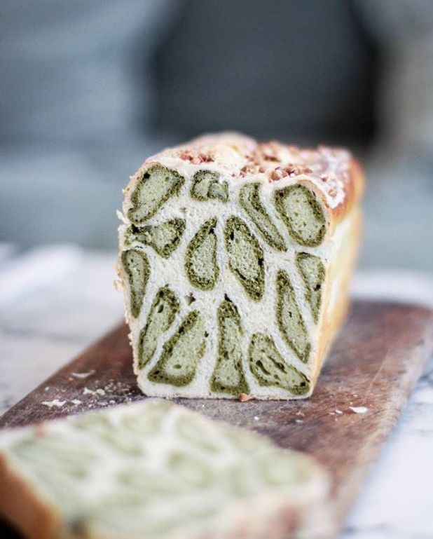 Brioche léopard au thé vert matcha