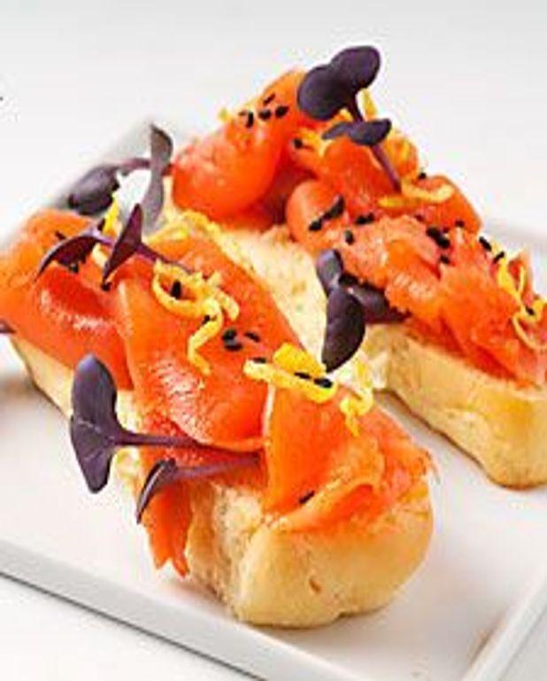 Brioche saumon fumé et citron