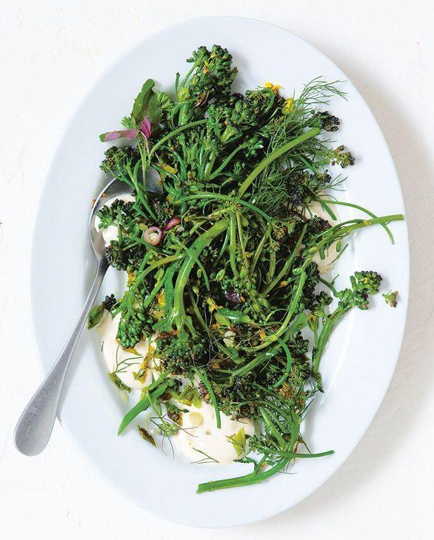Broccolini grillés, sauce sésame