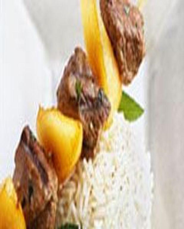 Brochettes d'agneau au melon
