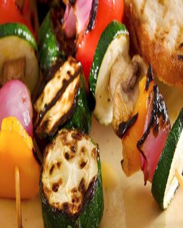 Brochettes de légumes à la Plancha