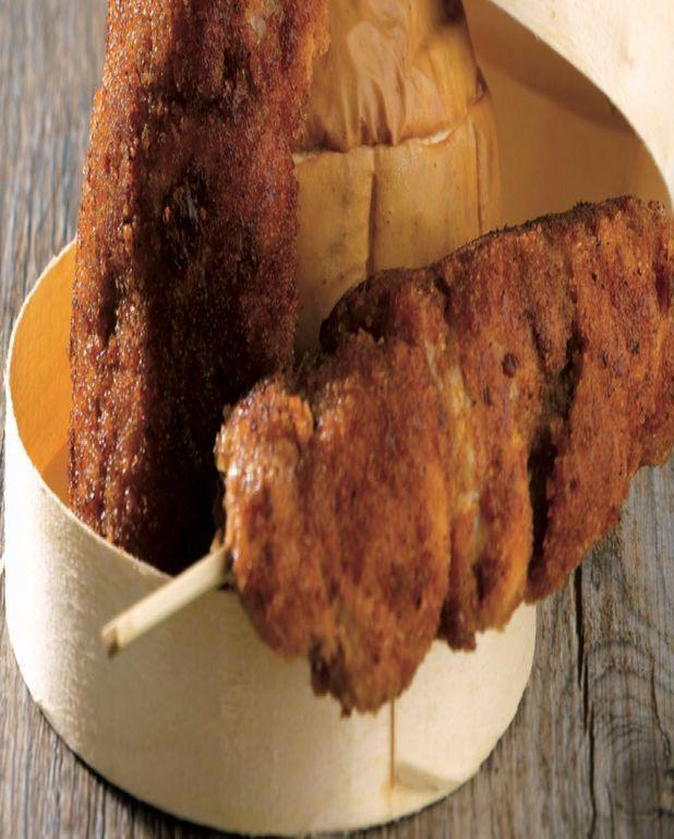 Brochettes de pintade au pain d'épice