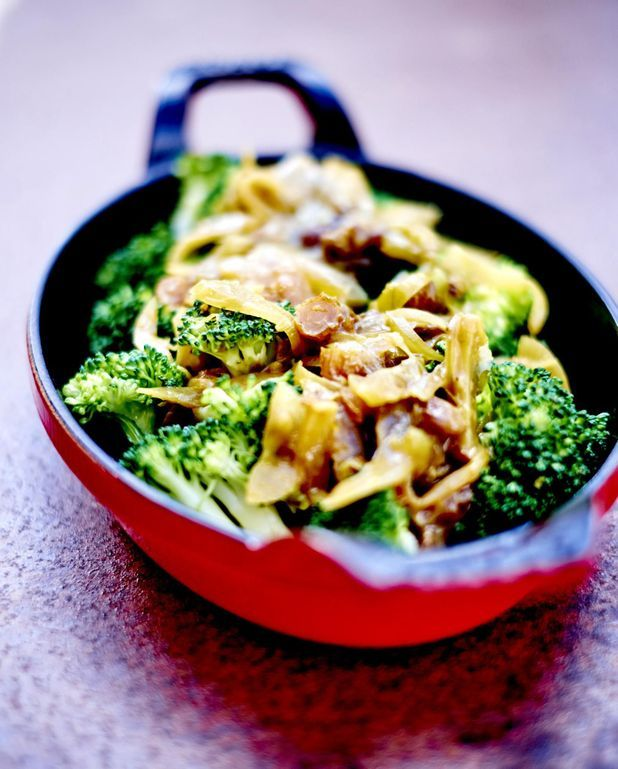 Brocolis sauce oignon et raisin