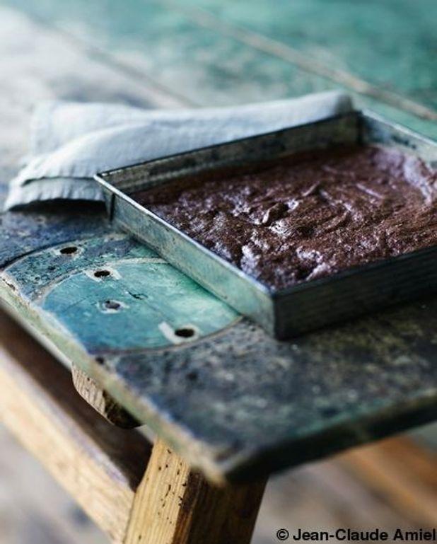 Brownie chocolat noisettes beurre demi-sel (sans farine)