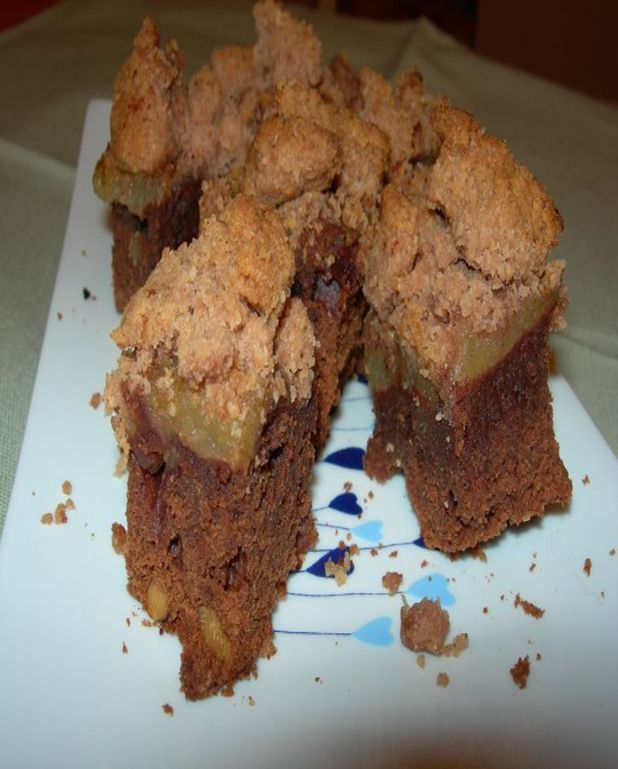 Brownies pommes-crumble
