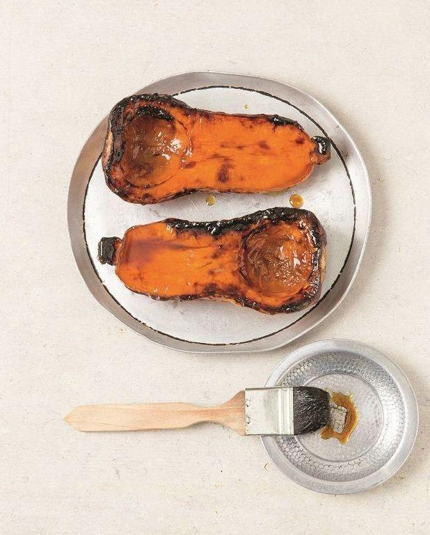 Butternut glacé au sirop de mélasse de grenade