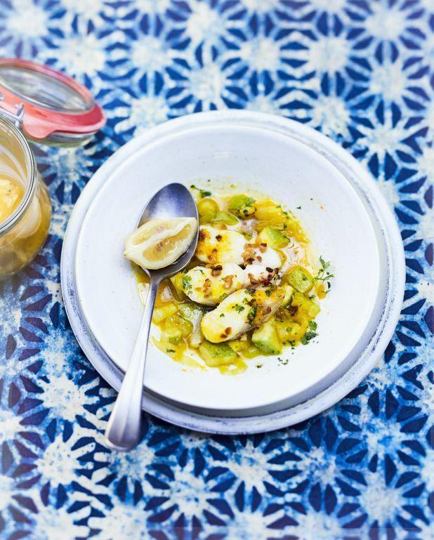 Cabillaud aux légumes, beurre de citron