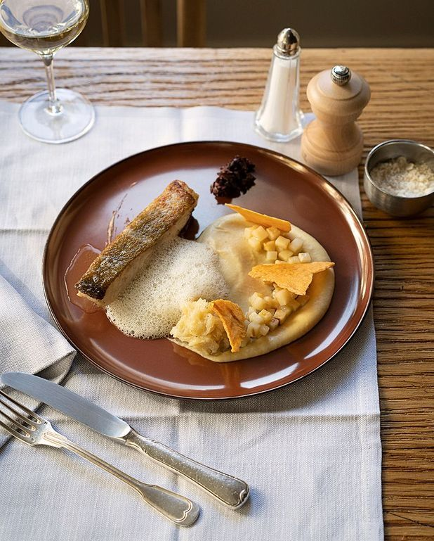 Cabillaud rôti, céleri et parmesan