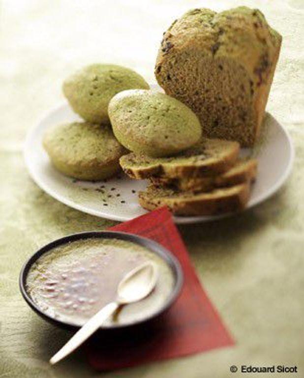 Cake au thé vert matcha