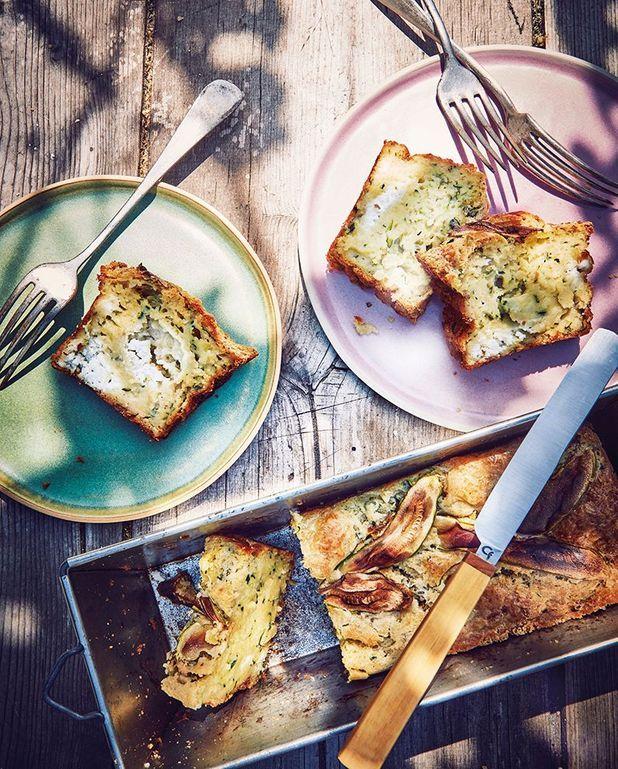 Cake aux courgettes, chèvre et menthe fraîche