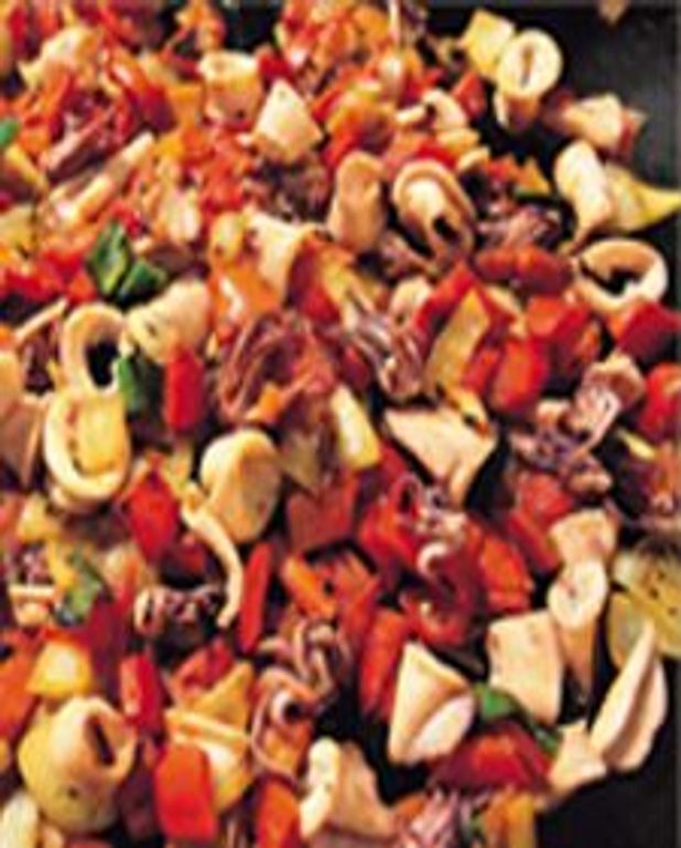 Calamars aux légumes BBQ
