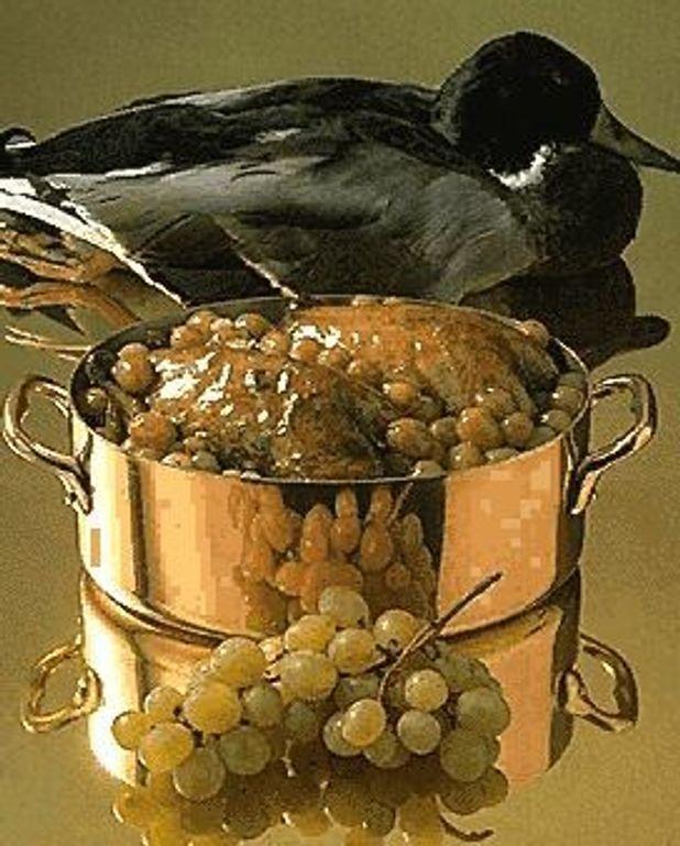 Canard aux raisins