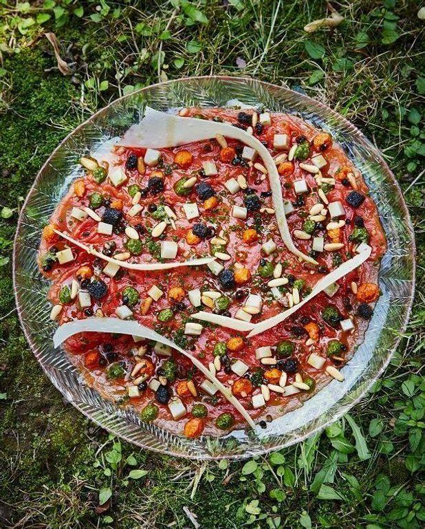 Carpaccio de pastèque et olives de Kalamata