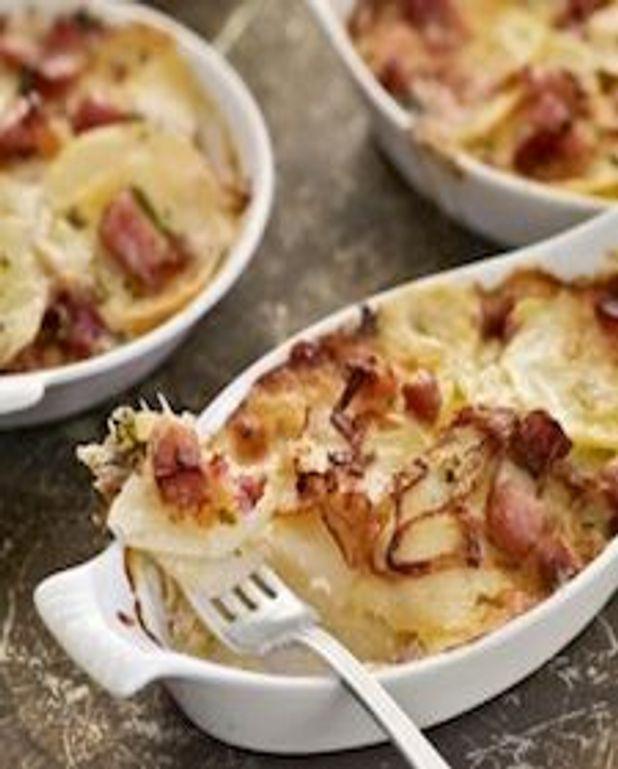Casserole de pommes de terre et jambon