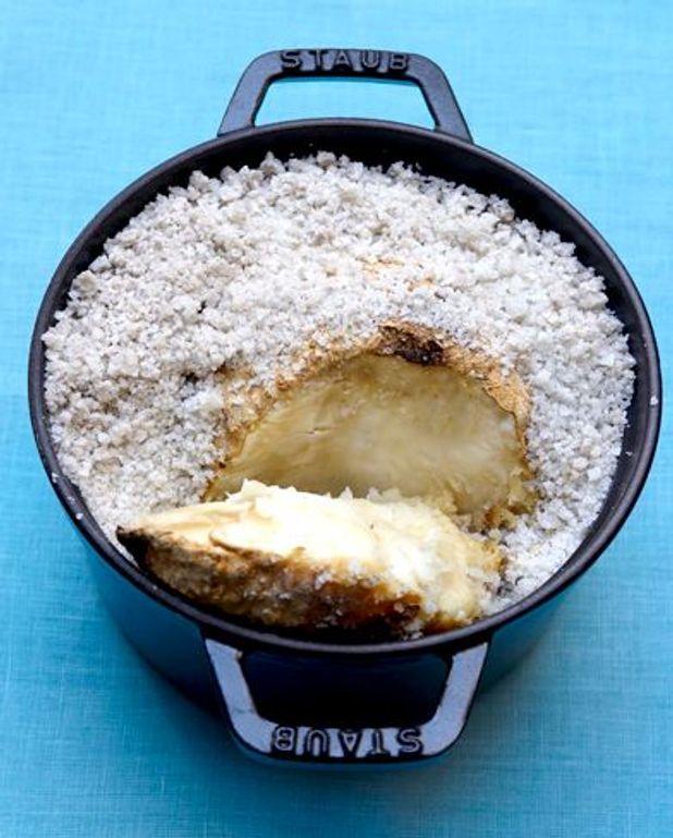 Céleri-rave en croûte de sel