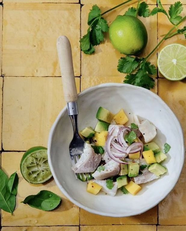 Ceviche de dorade, citron lime et mangue